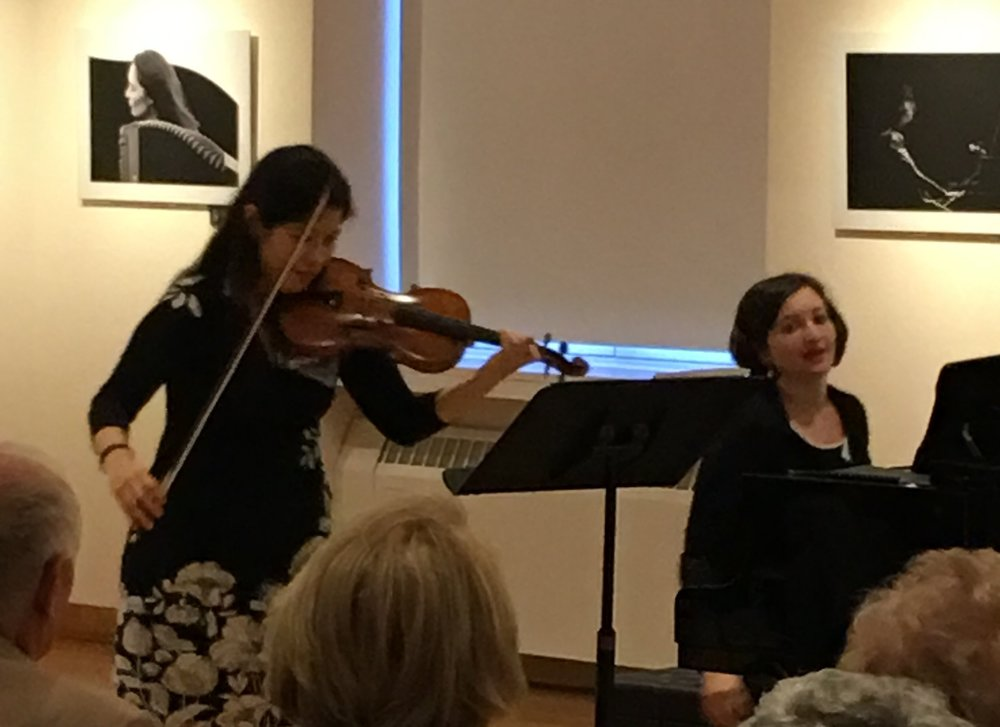 The G-Sharp Duo:  Emilie-Anne Gendron, Violin  Yelena Grinberg, piano.