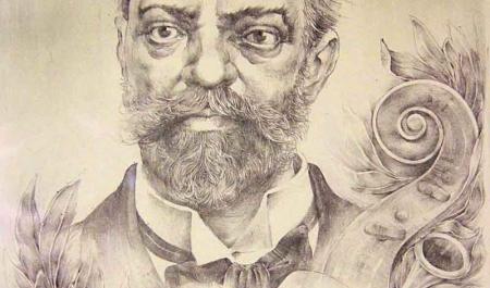 Antonín Dvořák Lithograph by Oldřich Kulhánek, DAHA Archive