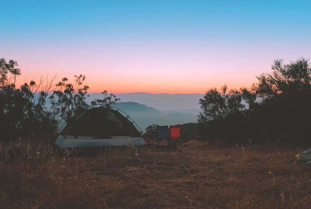Camp on a private vineyard -