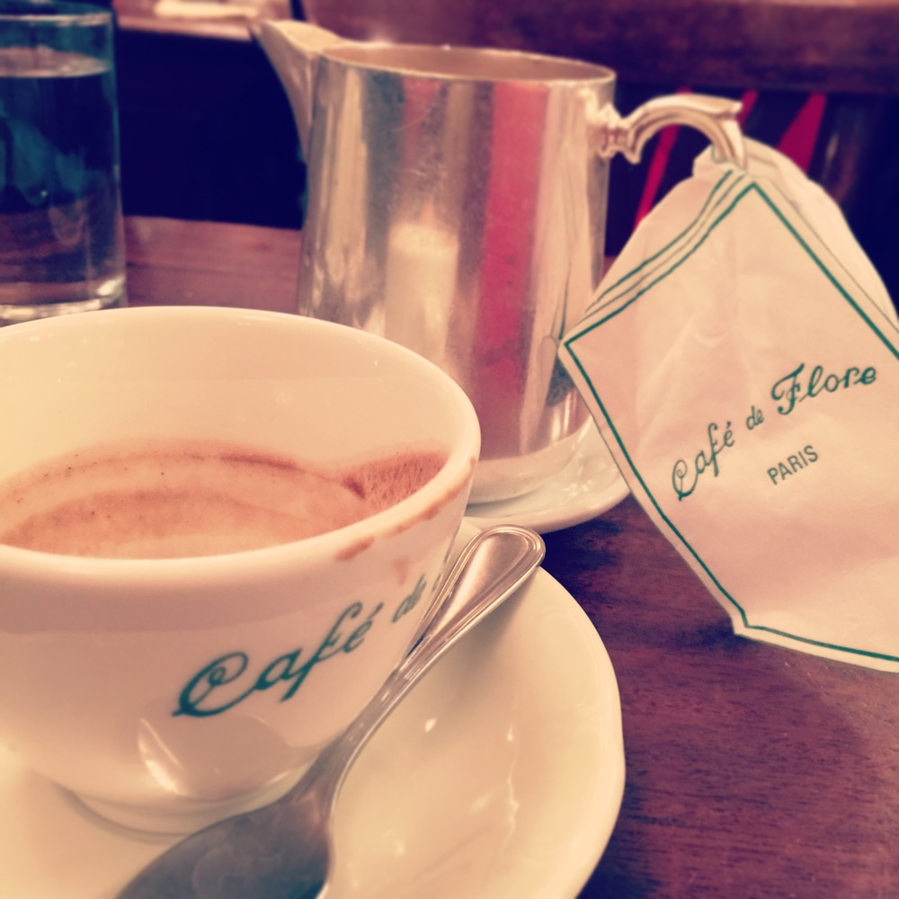 After all the event of morning finished, my friend invited me to Café de flore!