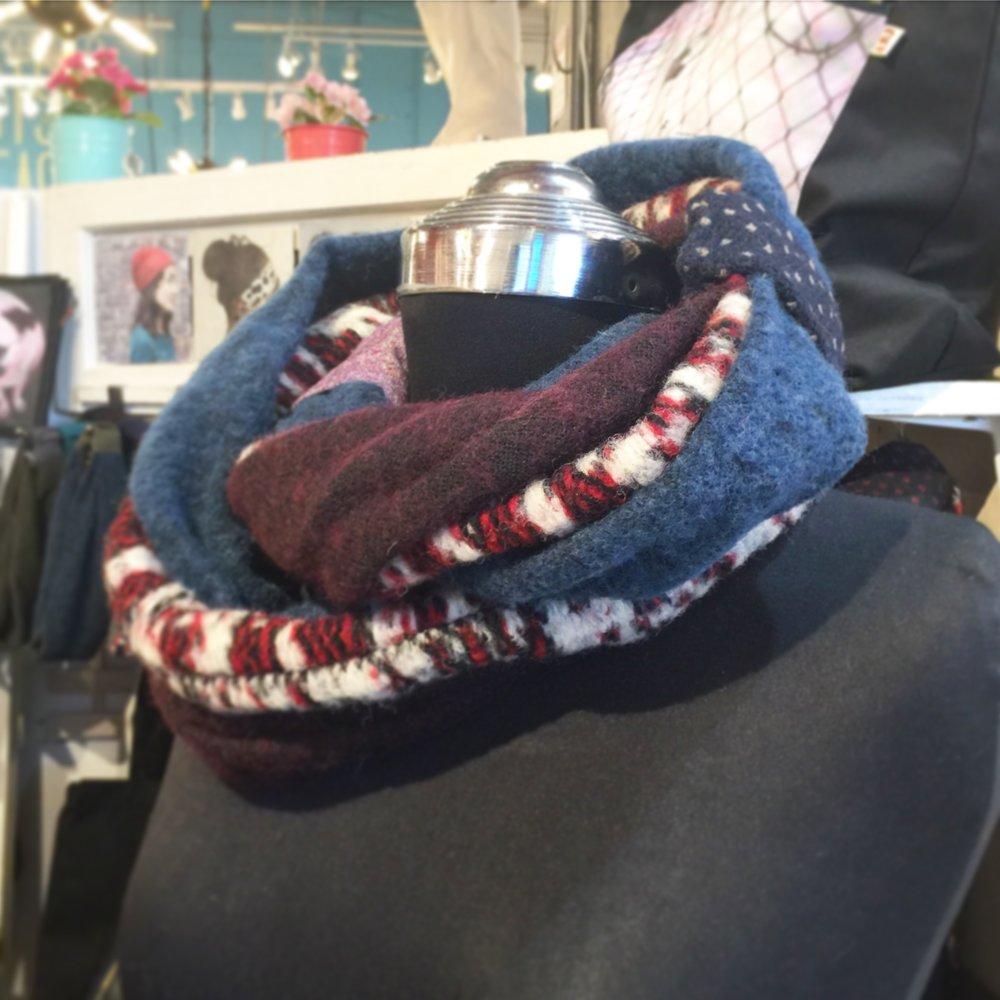 Wool 3 rings infinity scarf