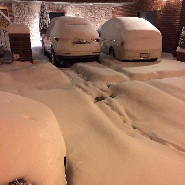 #snow in Dyker Heights
