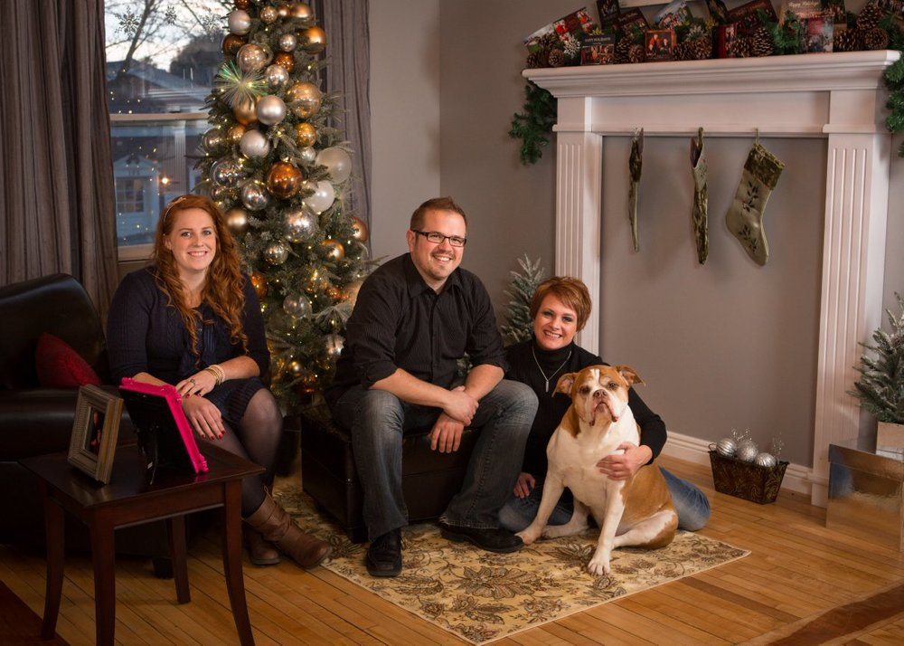 Our Holiday 2012 Card Image (with Tater!)
