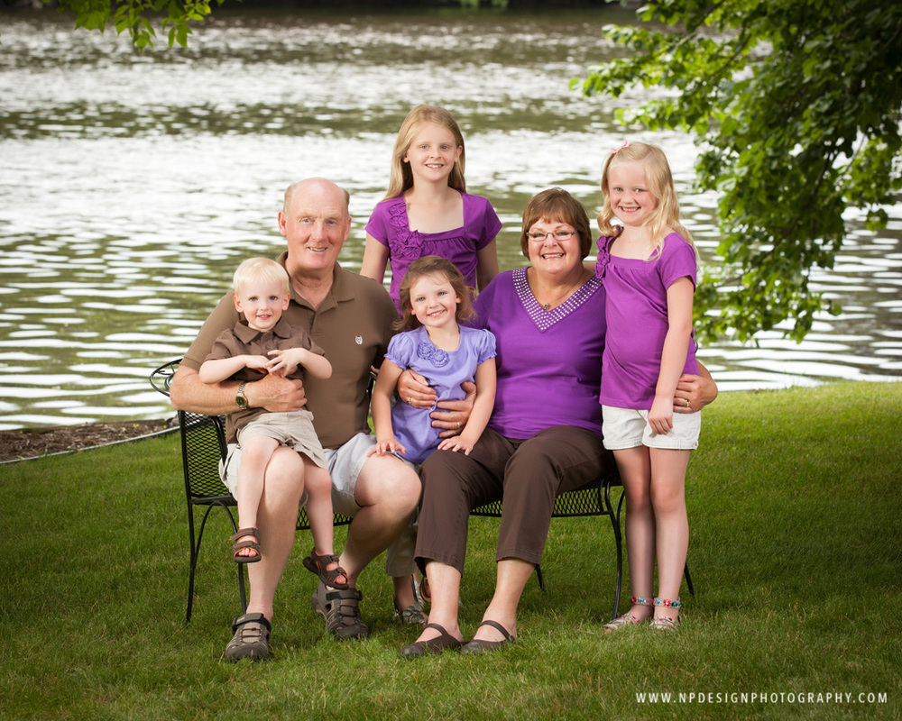 Summer family portraits by np design and photography
