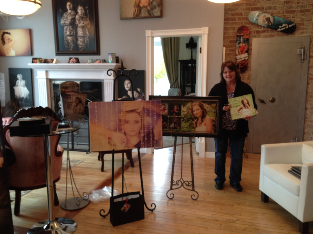 Kacie's mom Mary Jo grabbed everything! Can't wait to see both pieces hung on their wall at home!