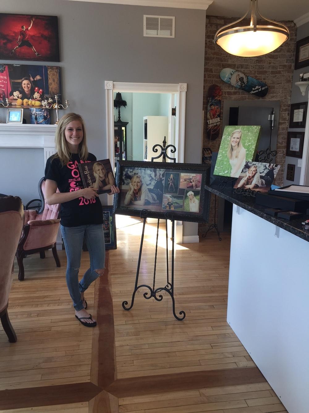 New Richmond Senior, Madison. Love her collage!
