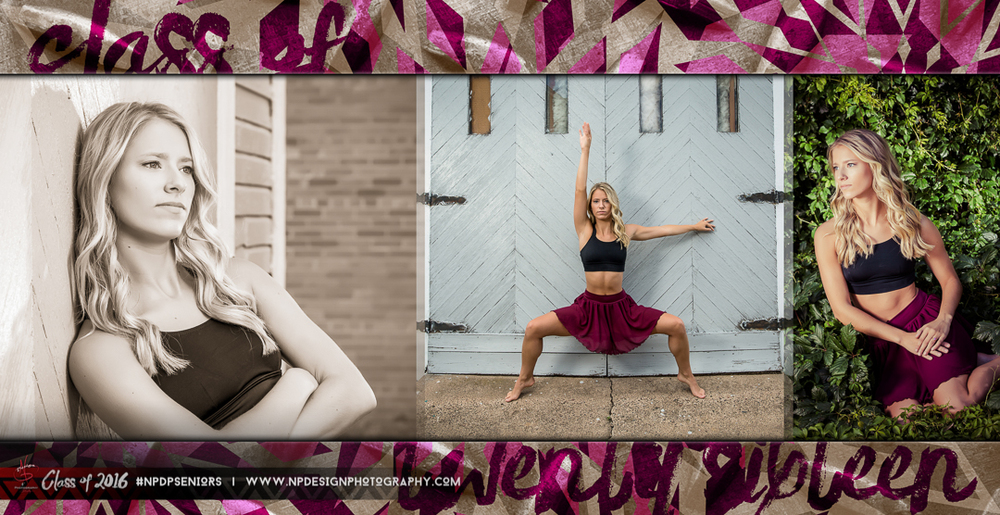 A dance spread from Harley's custom 8x8 Senior Album