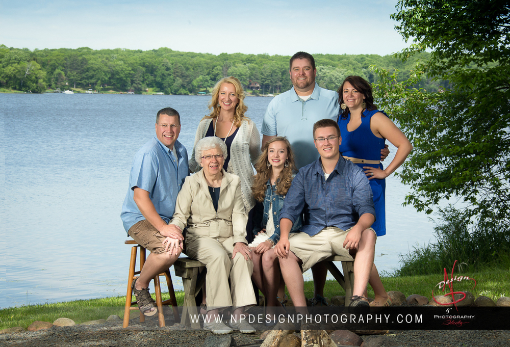 Kristina's family at their cabin on White Ash Lake in Northern Wisconsin.