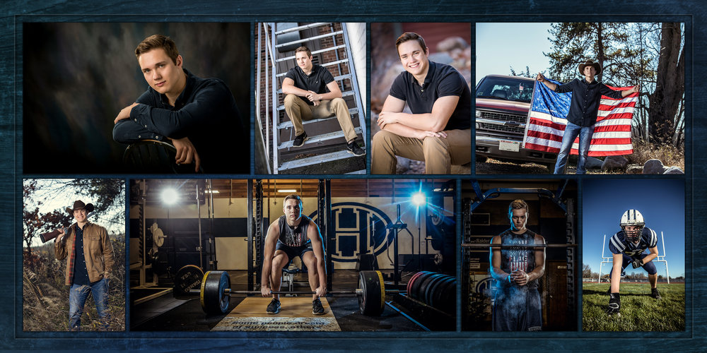 High School Senior Client Jack Berg of Hudson photographed by Nate Peterson, CPP, M. Photog.