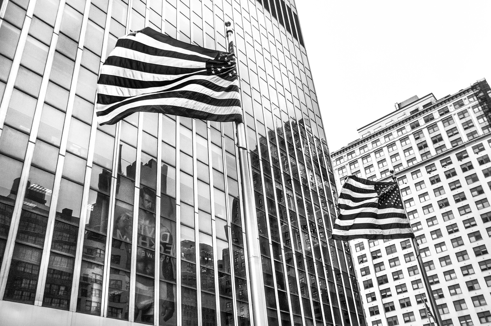 Flags in Manhatten
