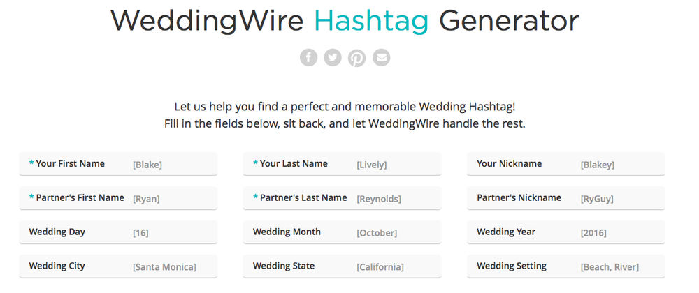 Wedding Hashtags Generator.Hashtags Blog Main Street Productions Video Production