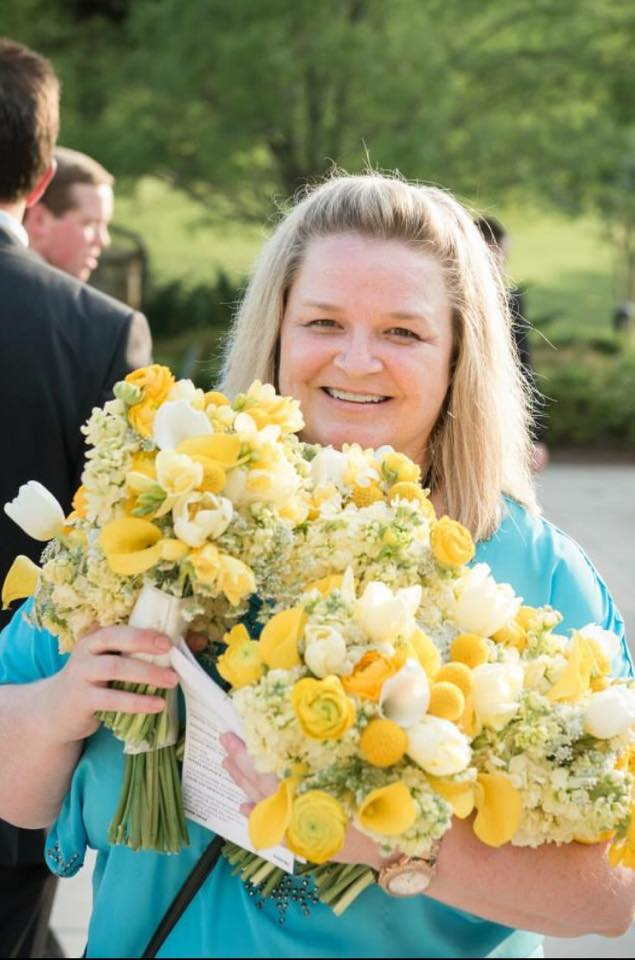 Wedding Planner Rachael Grammer with Two Hearts Weddings & Events.  Photo courtesy of  Kelli + Daniel Taylor Photography