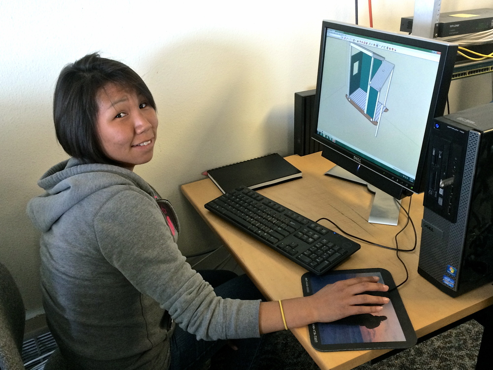 Marina shows off her SketchUp skills.