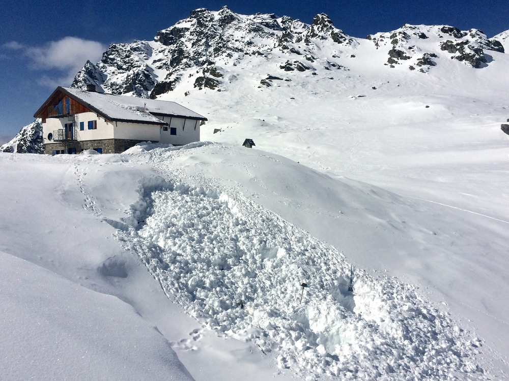 Our excavation zone... with the rifugio for scale.