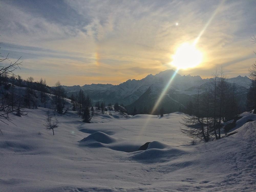Sunset over Monte Disgrazia.
