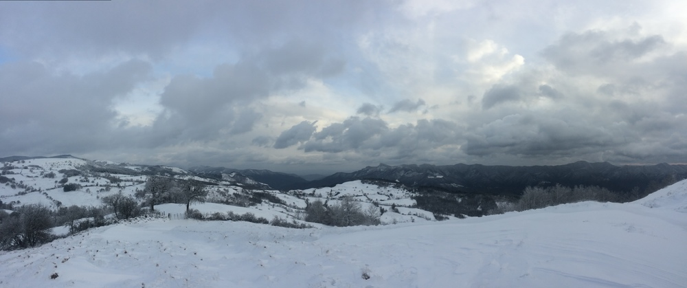 Winter returns to the Apennines.