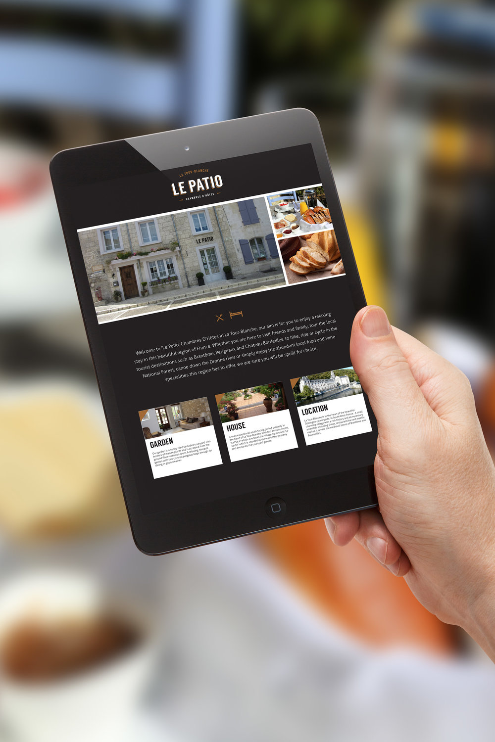 Website design for Le Patio bed and breakfast