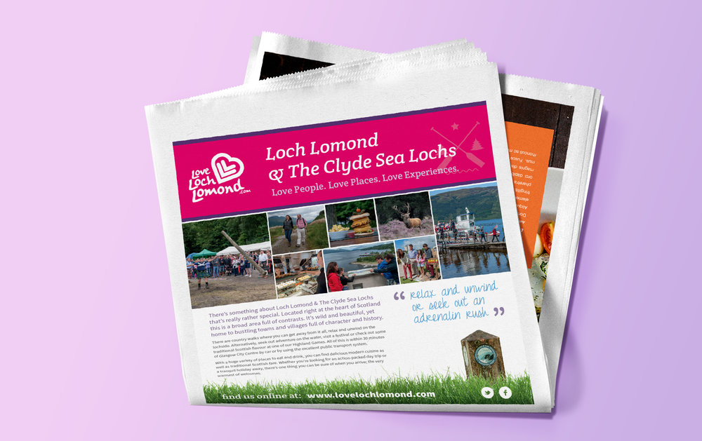 Love Loch Lomond press advert