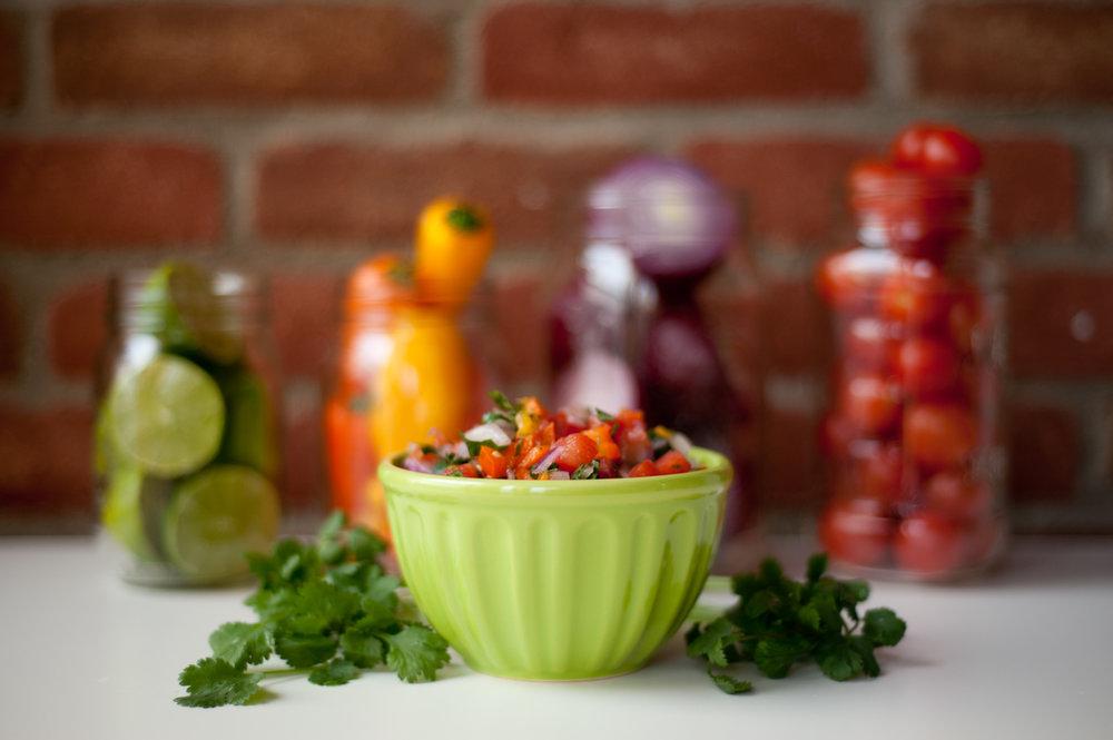 Studio food photography.