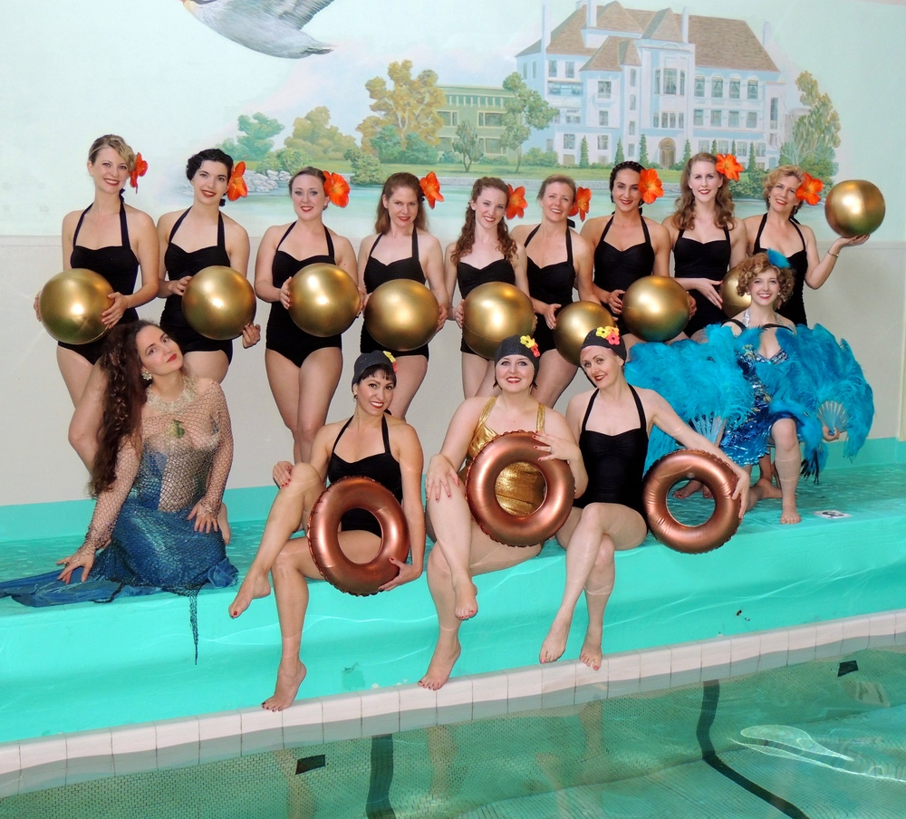 Decobelles at the Bellevue Club Pool Mural Dedication