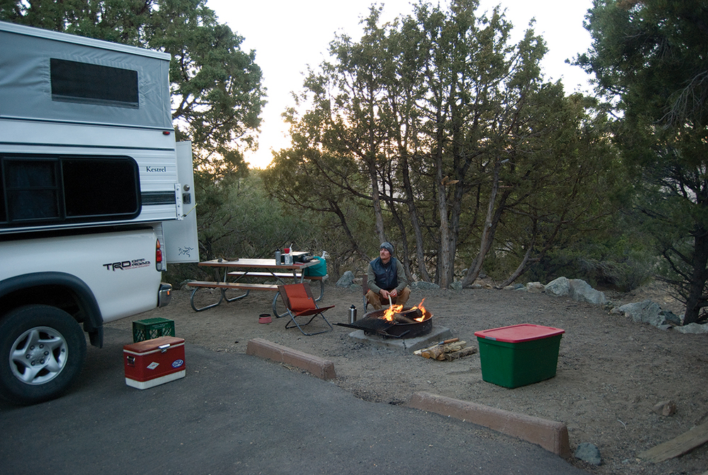 Evening comes to Pinon Flats campground in Great Sand Dunes National Park > Photo: Joanna Nasar