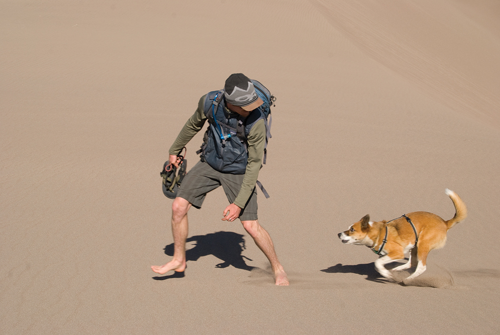 Nothing beats a barefoot dune romp.  >Photo:  Joanna Nasar