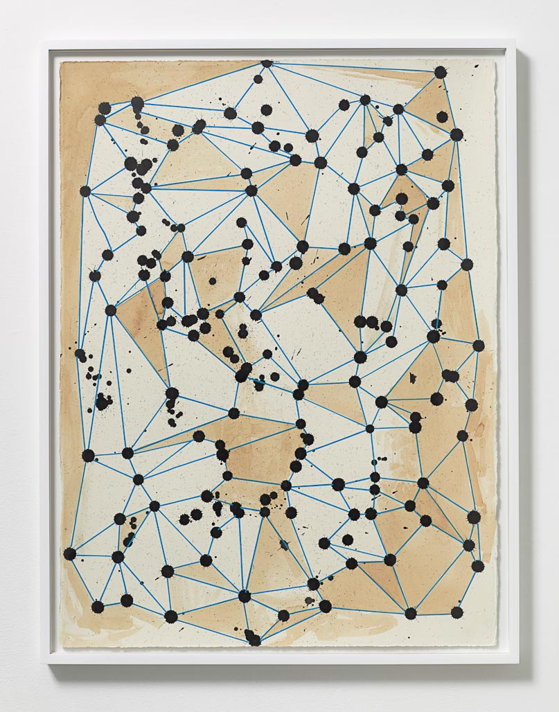 Olav Westphalen  , Untitled, 2014  , Ink, acrylic, and coffee on paper  , 30 x 22 1/4 in.