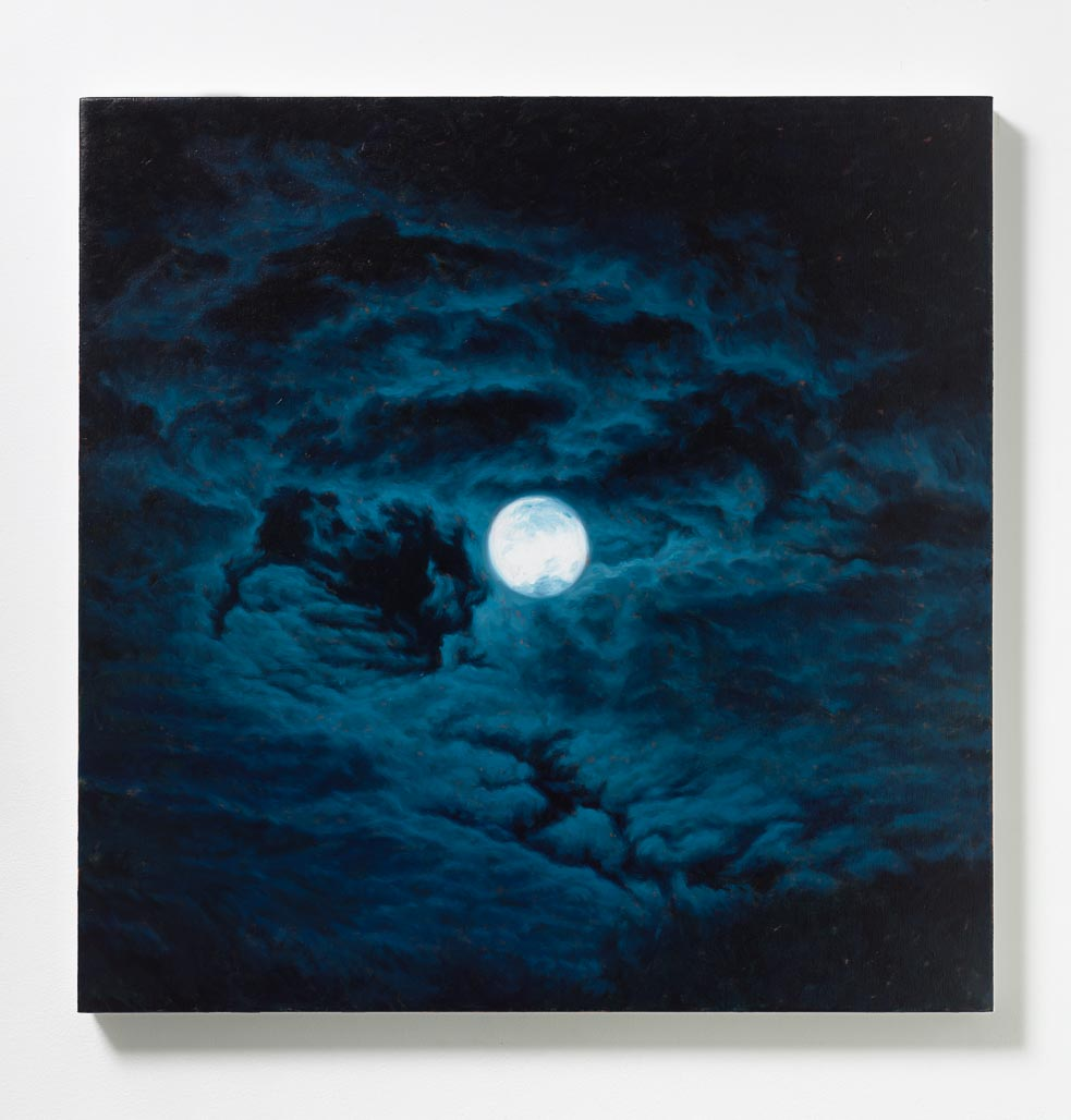 Peter Rostovsky   , Moon Painting,    2015  , Oil on linen  , 30 x 30 in.