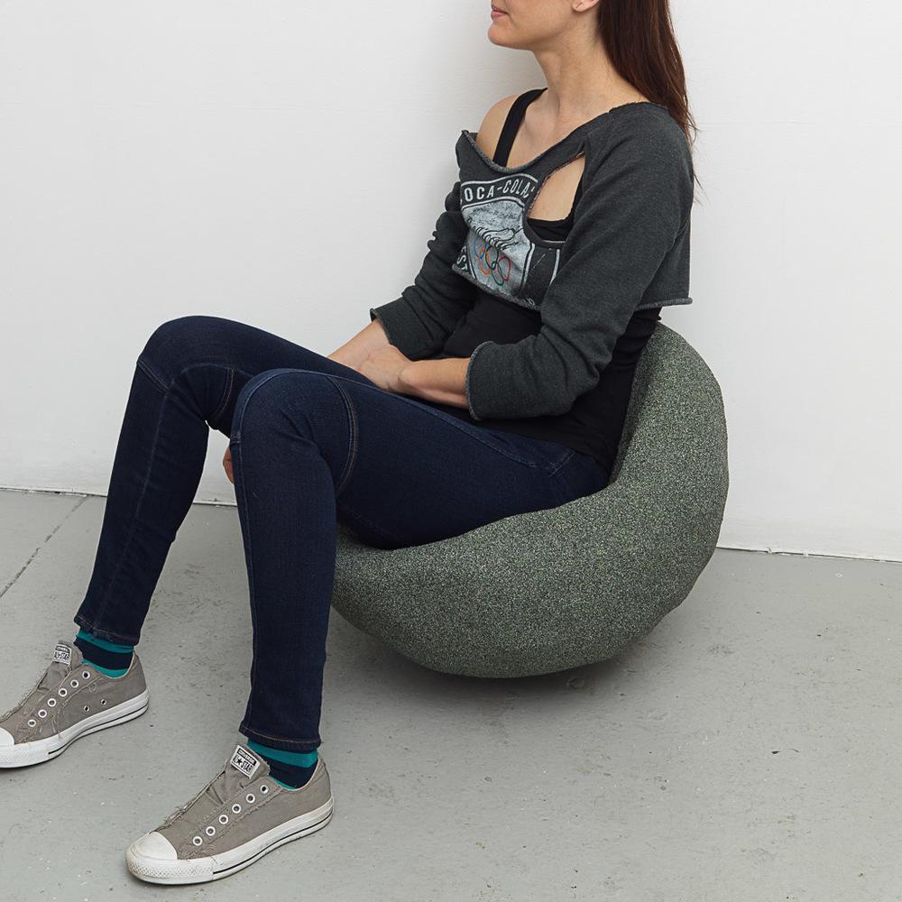 Rachel Higgins   , Bowl,    2015  , Polystyrene, fiberglass, cement, cerastone