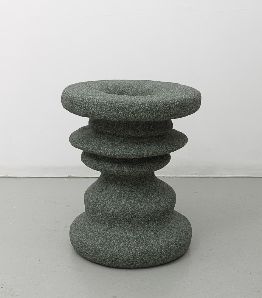Rachel Higgins,  Figure  (view 1), 2015, Polystyrene, fiberglass, cement, cerastone, 20 x 15 x 15 in (50.80 x 38.10 x 38.10 cm)