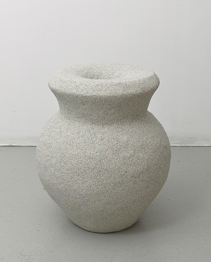 Rachel Higgins,  Ground  (view 2), 2015, Polystyrene, fiberglass, cement, cerastone, 21 x 17 x 17 in (53.34 x 43.18 x 43.18 cm)