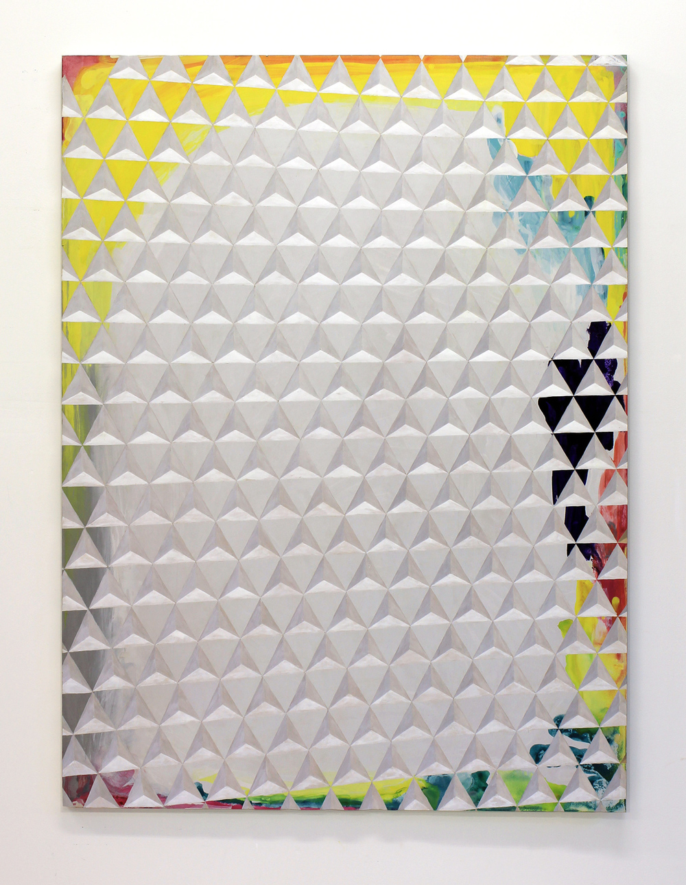 Gerard Mullin ,  Mixed-mediocre,  2014, Watercolor, gouache, and acrylic on wood, 40 x 30 in.