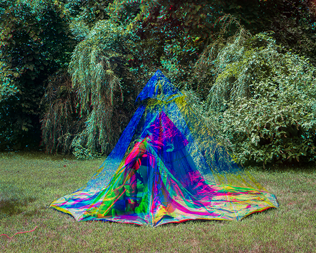 Scott Alario,  Setting Up Tent , 2015, Archival pigment print, 24 x 30 in (60.96 x 76.2 cm), Edition of 3 + 1AP