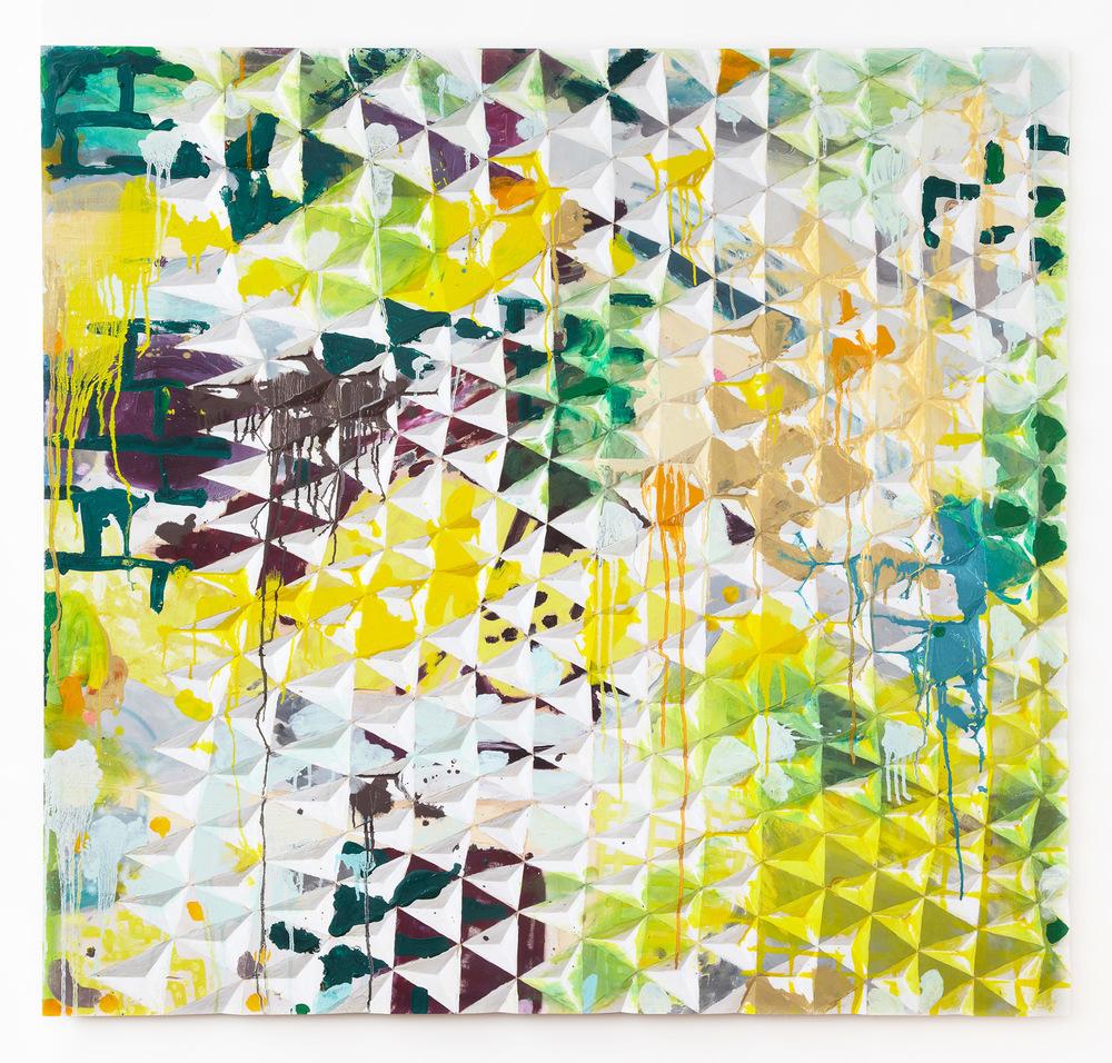 Gerard Mullin, Untitled, 2013, Oil, wood dye, acrylic, wood, 48 x 35 3/4 inches