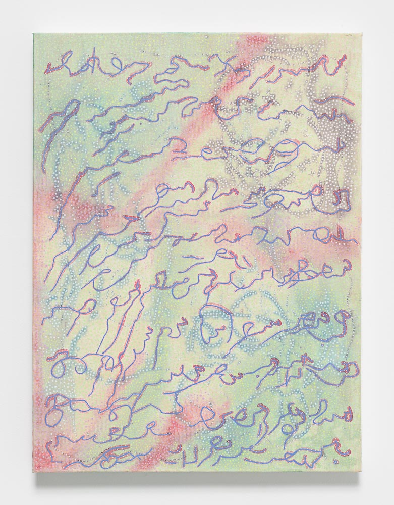 Nadia Haji Omar, Untitled, 2016, Acrylic and dye on canvas, 24 x 18 inches (60.96 x 45.72 cm), NHO 1031