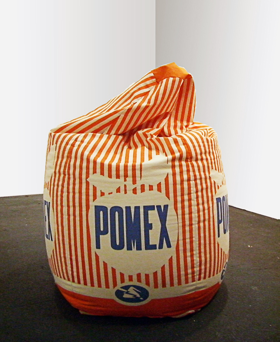 Francesco Simeti,  Pomex,  2005, Hand silkscreen on canvas beanbag, Ed. 2/3