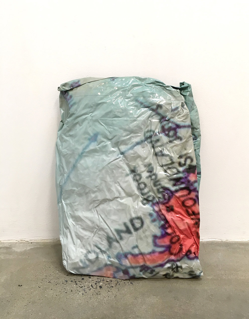 Kelly Jazvac, Untitled #2 (found objects), 2012, Found de-installed vinyl banner, Dimensions variable