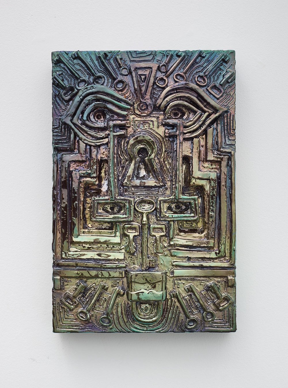 Julia Kunin,   Keys,  2015, Ceramic, 14 1/2 x 9 1/2 x 2 1/2 inches