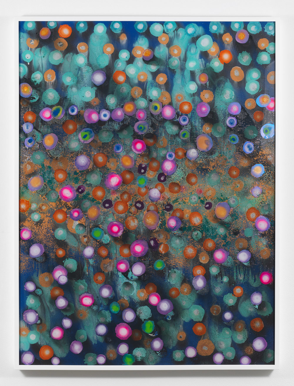 Giacinto Occhionero,   The Last Purple , 2017, Spray paint on plexiglass, 40 x 30 inches (101.6 x 76.2 cm)