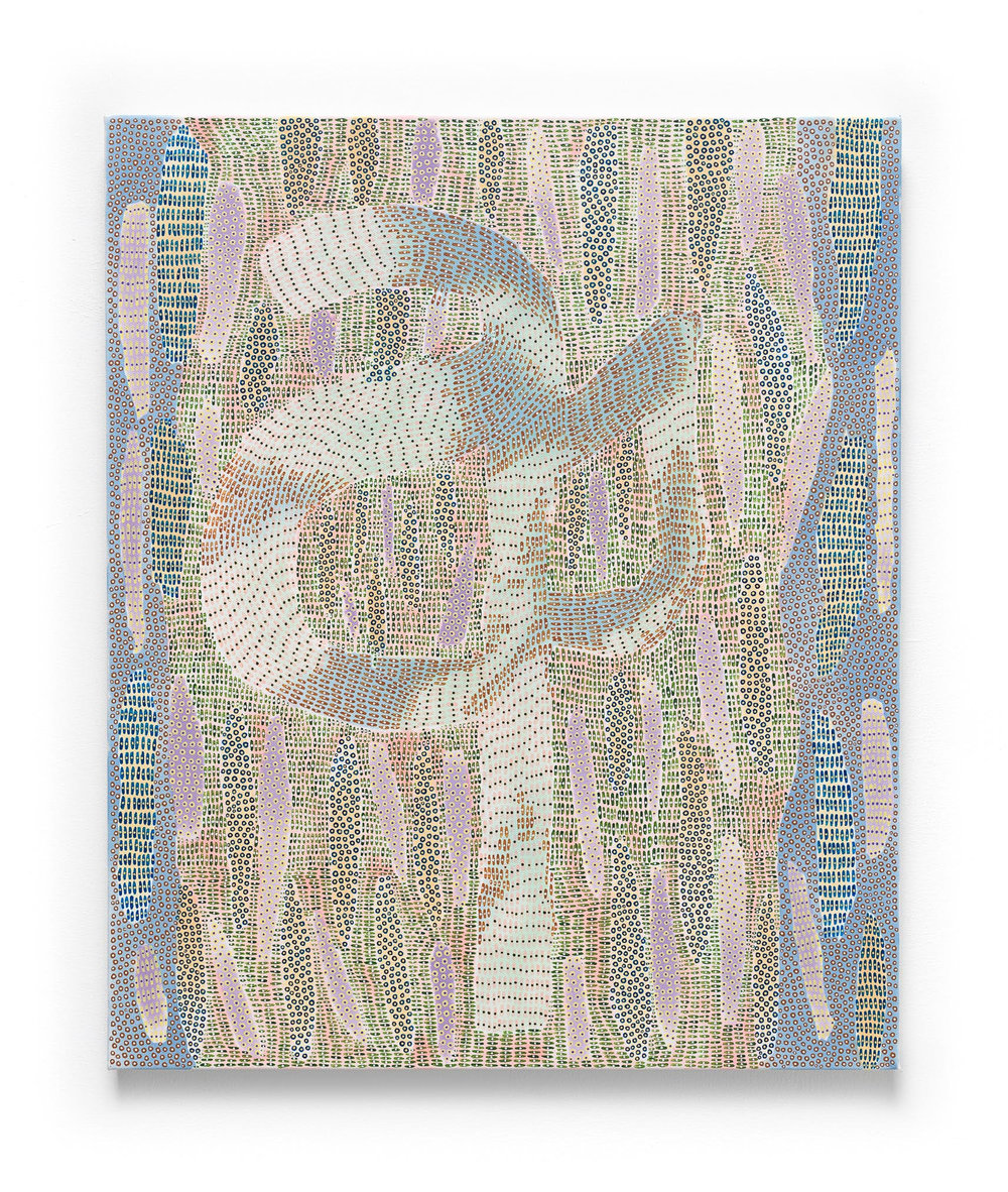 Nadia Haji Omar ,  Aa , 2017, Acrylic and dye on canvas, 24 x 20 inches (60.96 x 50.8 cm), NHO1039