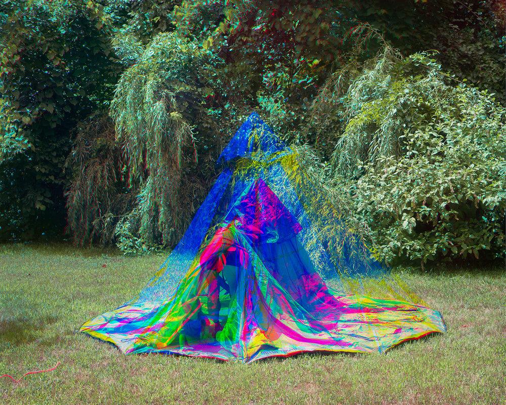 Scott Alario, Setting Up Tent, 2015