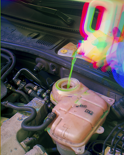 Scott Alario,  The Color of Coolant, Preventative Maintenance , 2015, Archival pigment print, 30 x 24 in (76.2 x 60.96 cm), Edition of 3 + 1AP
