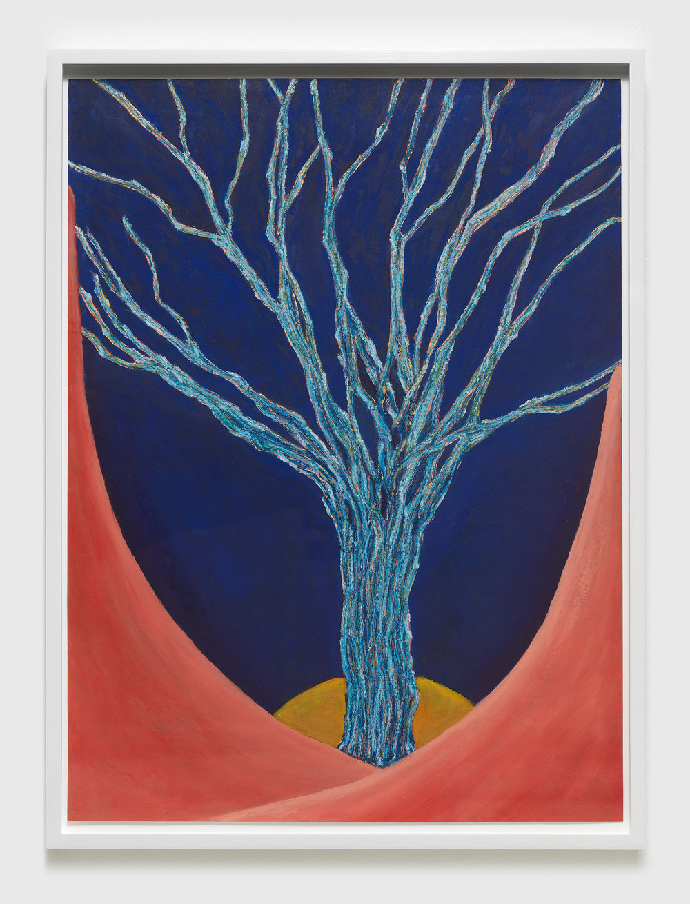 Ping Zheng ,  Sad Season of Sensation , 2017, Oil stick on paper, Artwork dimensions: 24 x 14 1/2 inches