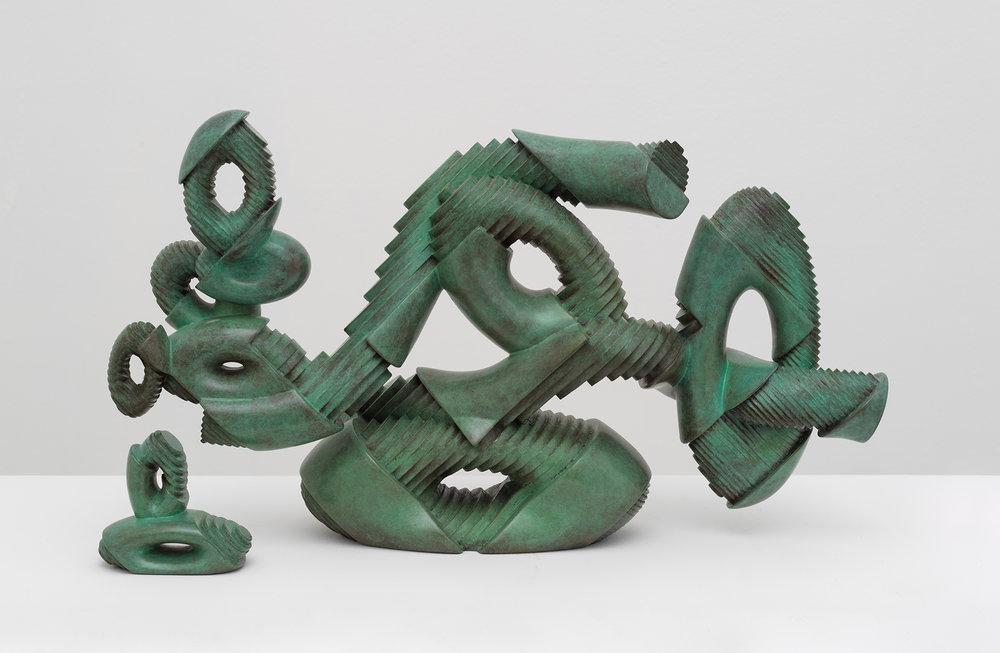 Bayne Peterson ,  New Century , 2018, Bronze, 9 3/4 x 17 1/2 x 6 1/4 in (24.765 x 44.45 x 15.875 cm), Series 2/3 +1 artist's proof