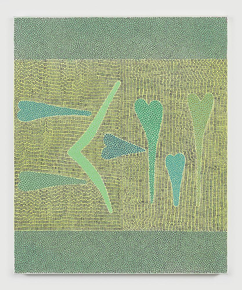 Nadia Haji Omar ,  Na(Ni)_M/II , 2018, Acrylic and dye on canvas, 24 x 20 inches (60.96 x 50.8 cm), NHO1049