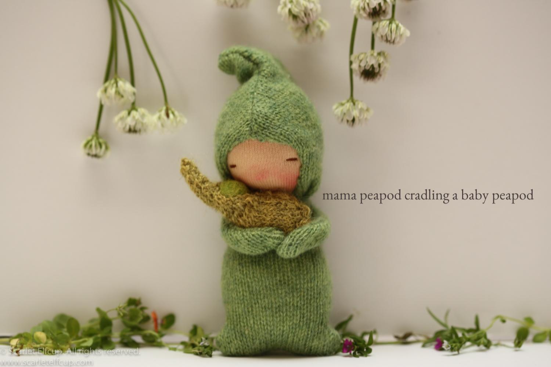 """Mama Peadpod, a 4"""" Yummy Tummy Baby Elfcup"""