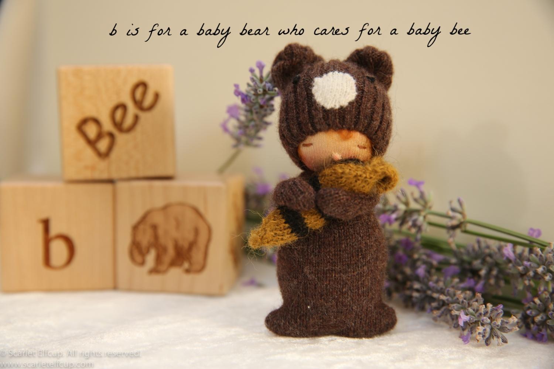 """Baby Bear, a 4"""" Yummy Tummy Baby Elfcup"""