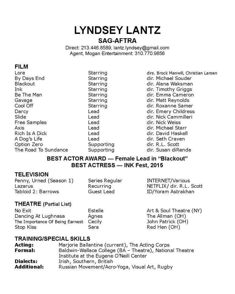 Resume Lyndsey Lantz