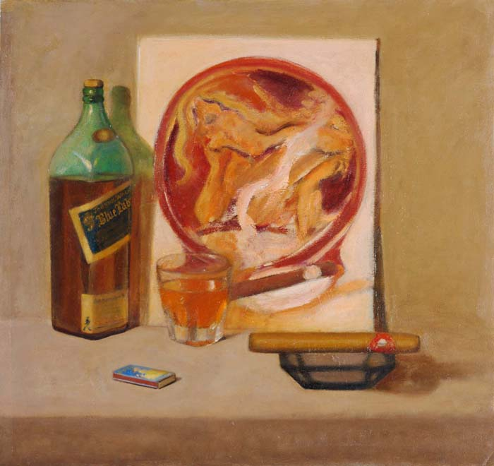 Cigar        oil on canvas