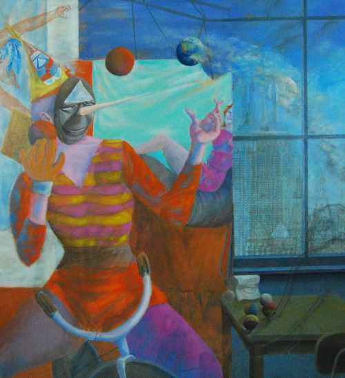 """Night Journey 36 oil on canvas 48""""x44"""""""